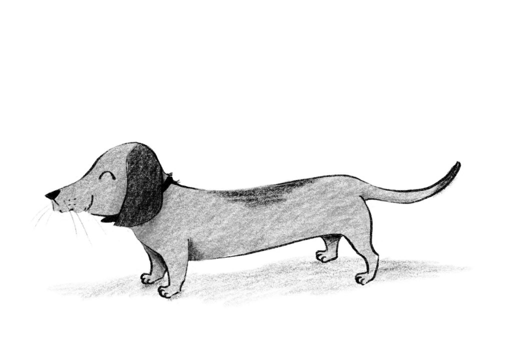 Illustration of Albert, the dog - A Smart Way To Start